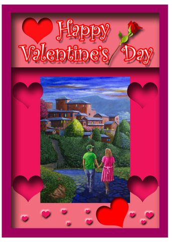 Greeting Card Plaque -  Happy Valentine's Day