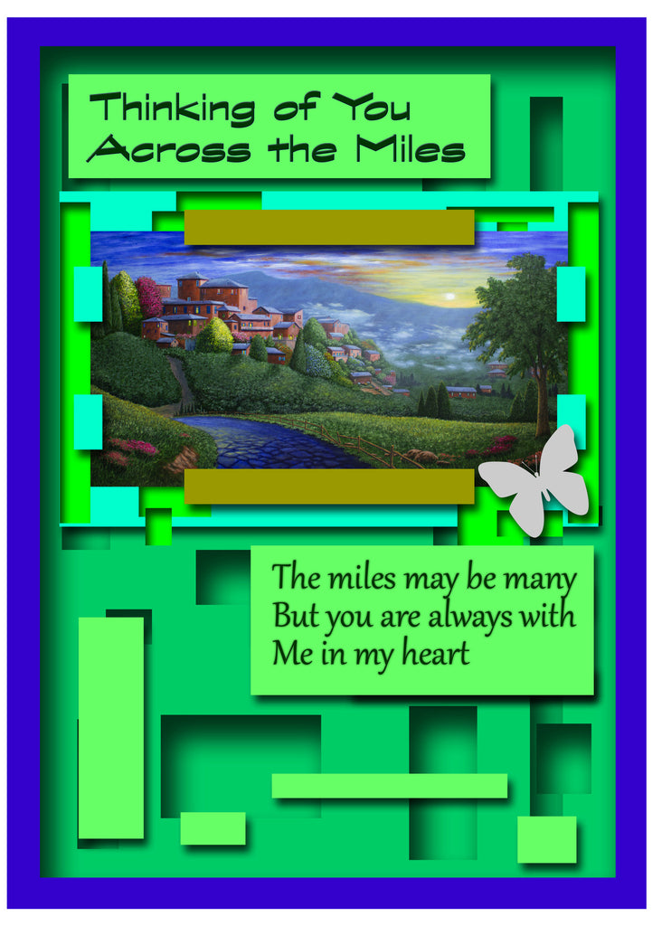 Greeting Card Plaque - Thinking of You Across the Miles