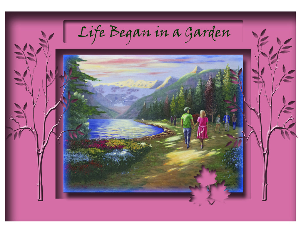 Greeting Card Plaque - Life Began in A Garden