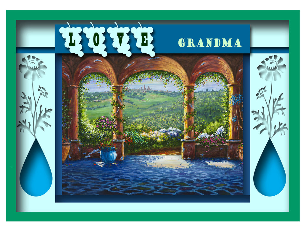 Greeting Card Plaque - Love Grandma