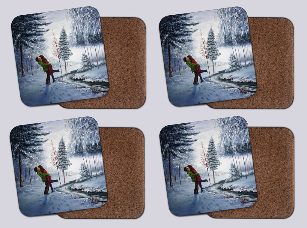 "Coasters with Cork #11 ""Winter Romance"""