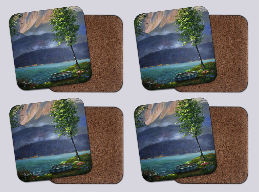 "Coasters with Cork #16 ""Seclusion (The Tree)"""