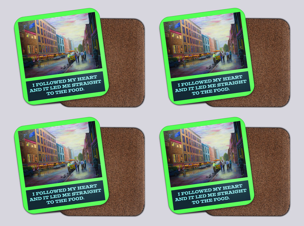 "Coasters with Cork #37 ""A Day in Quebec"" with quote"