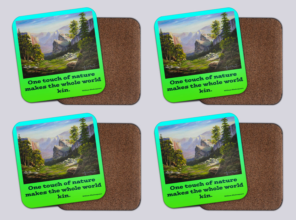 "Coasters with Cork #40 ""Yosemite Magnificence"""