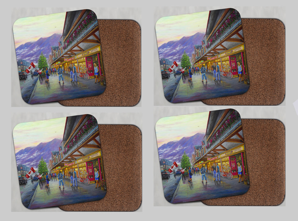 "Coasters with Cork #48 ""Beauty of Banff"""