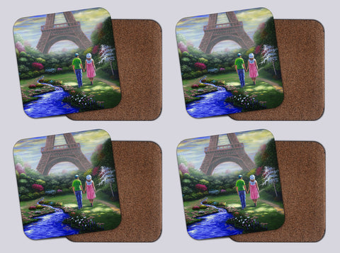 "Coasters with Cork # 4 ""A Time for Romance"""