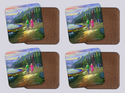 "Coasters with Cork # 5 ""A Walk to Remember"""
