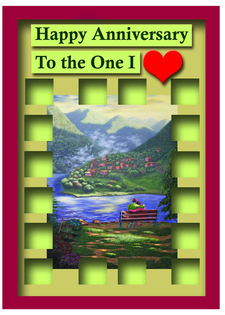 Greeting Card Plaque - Happy Anniversary to the One I Love