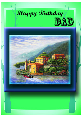 Greeting Card Plaque - Happy Birthday Dad