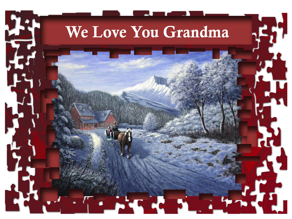 Greeting Card Plaque - We Love You Grandma