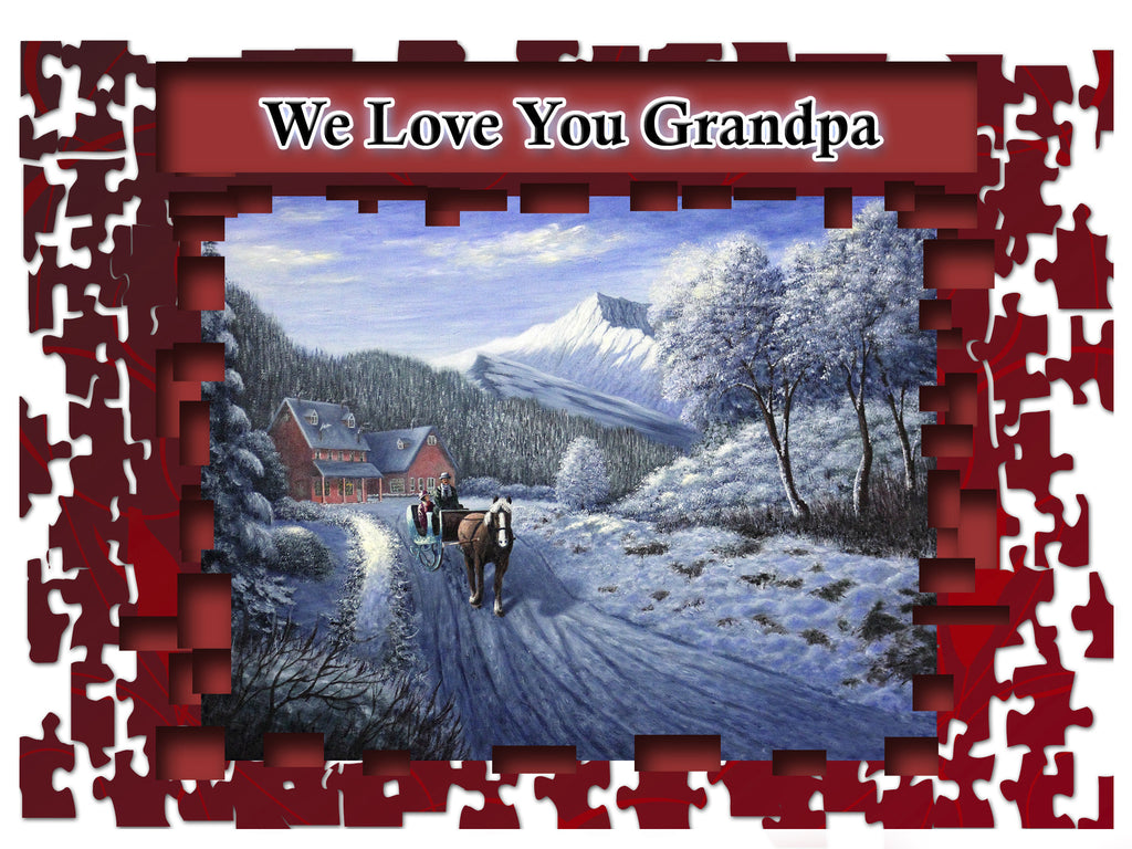 Greeting Card Plaque - We Love You Grandpa