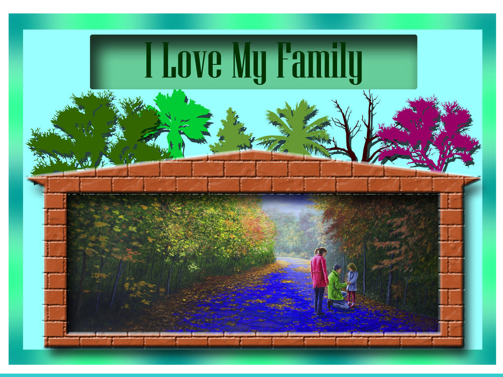 Greeting Card Plaque - I Love My Family
