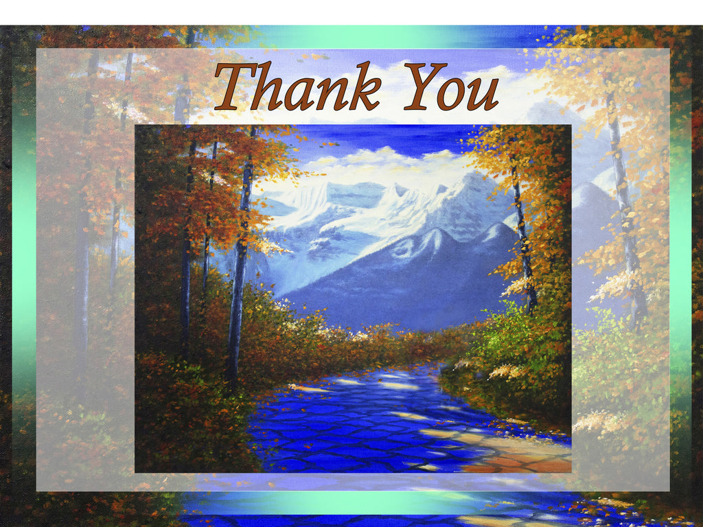 Greeting Card Plaque - Thank You