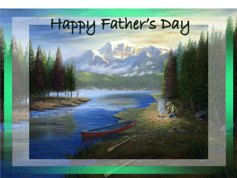 Greeting Card Plaque - Happy Father's Day