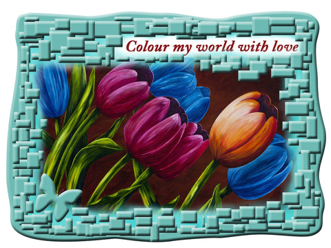 Greeting Card Plaque - Color My World