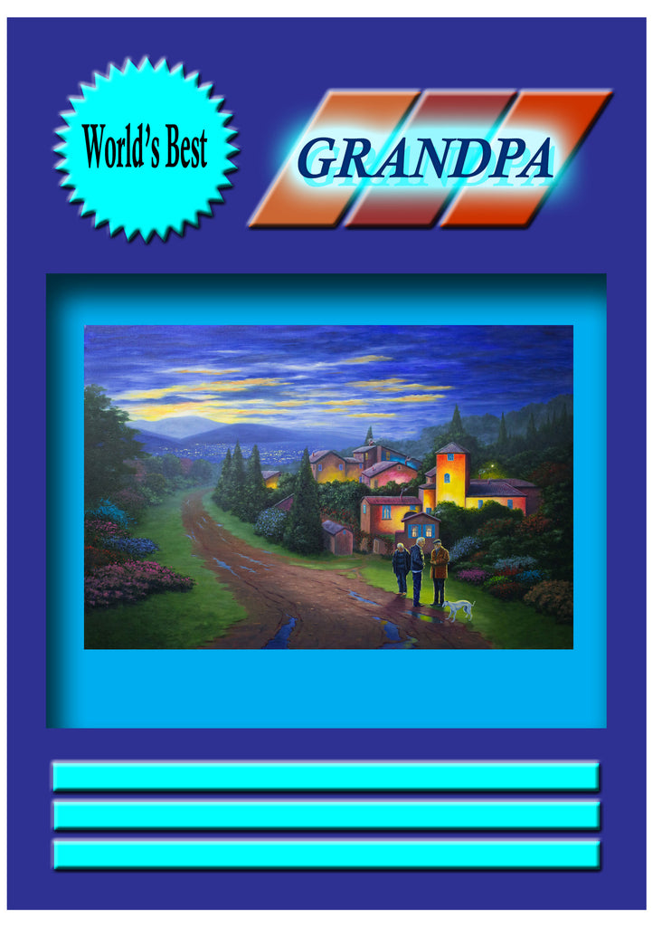 Greeting Card Plaque - World's Best Grandpa