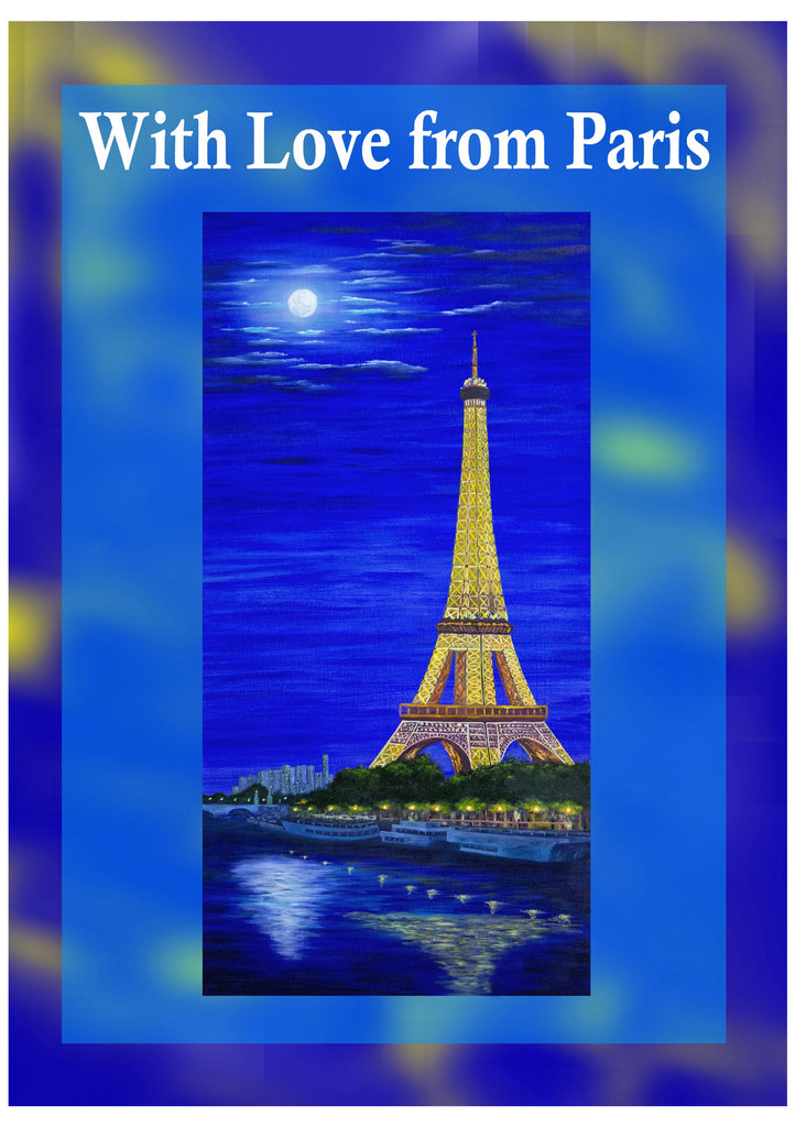 Greeting Card Plaque - With Love from Paris