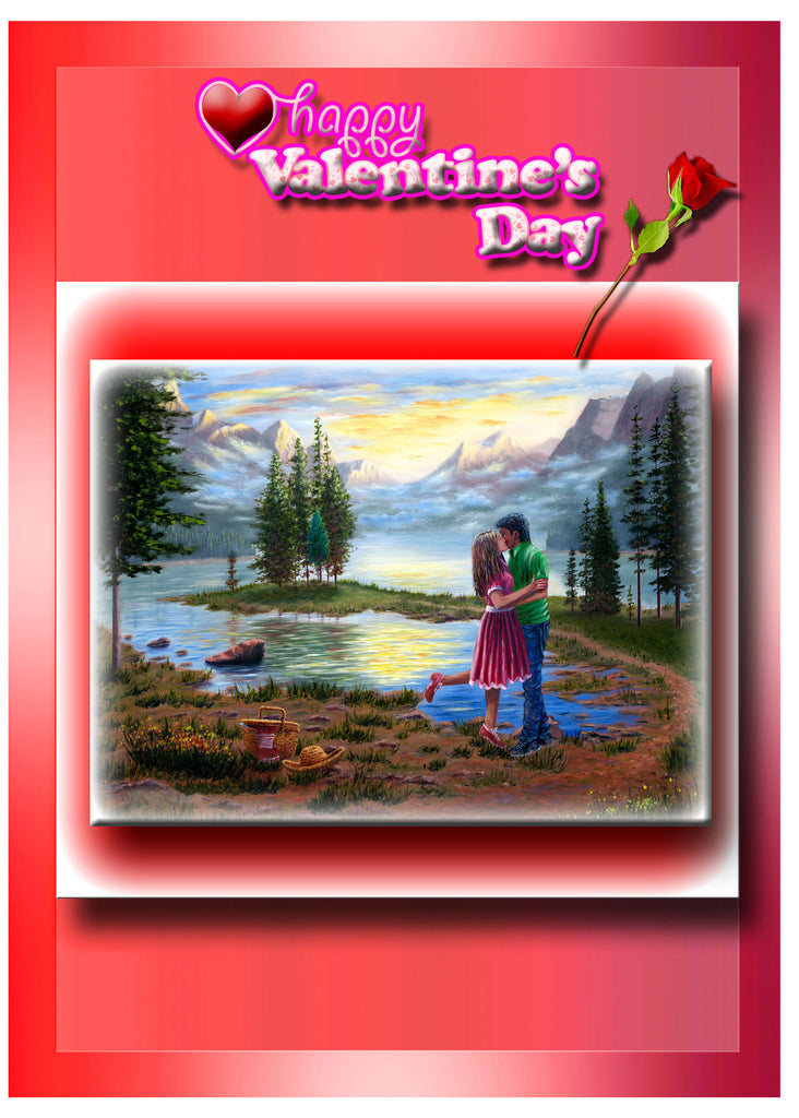 Greeting Card Plaque - Happy Valentines Day