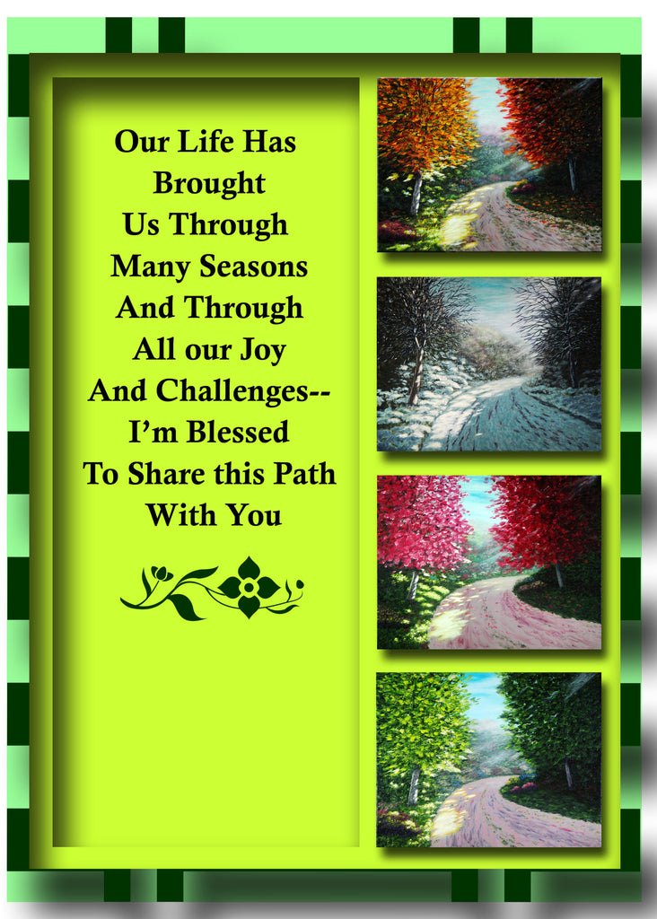 Greeting Card Plaque - I'm Blessed to Share My Life with You