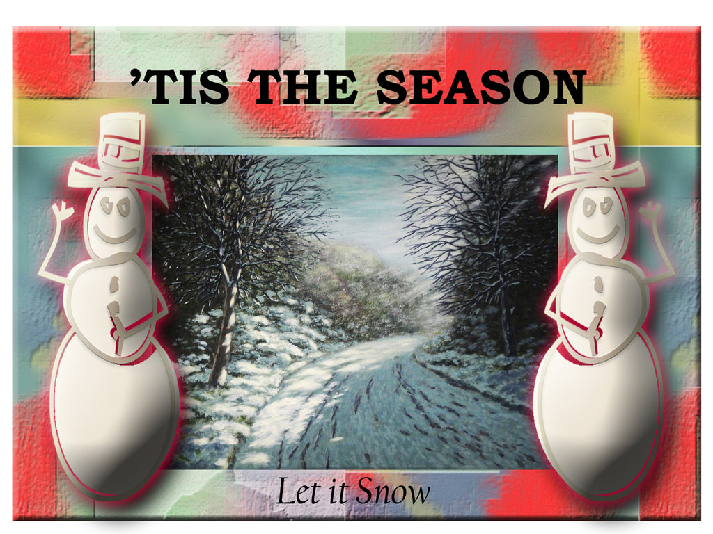 Greeting Card Plaque - Tis the Season