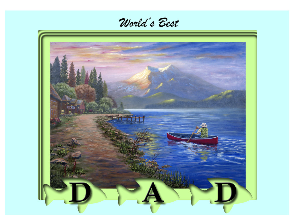 Greeting Card Plaque - World's Best Dad