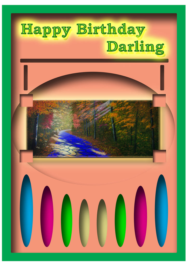 Greeting Card Plaque - Happy Birthday Darling