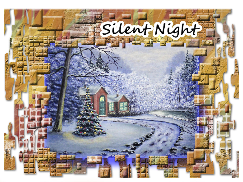 Greeting Card Plaque - Silent Night