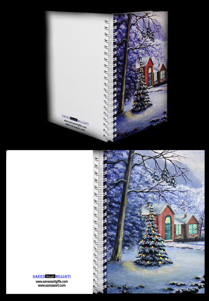 The Magic of Christmas Journal with Plain White Paper