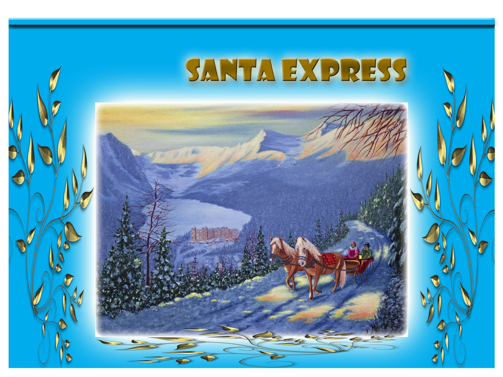 Greeting Card Plaque - Santa Express