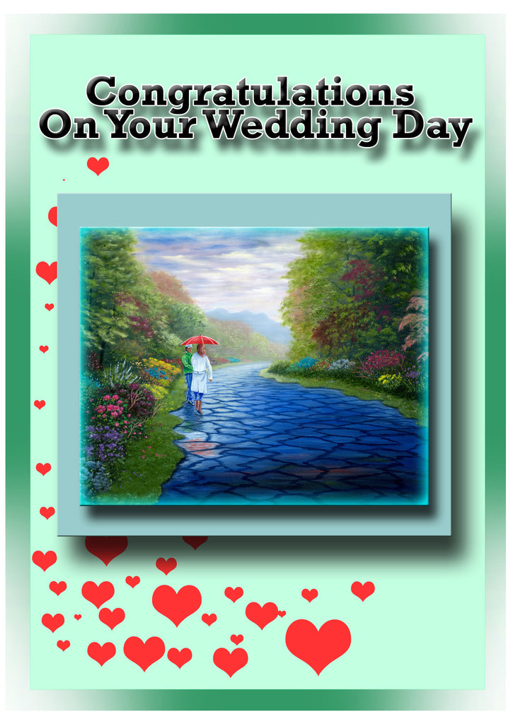 Greeting Card Plaque - Congratulations on Your Wedding