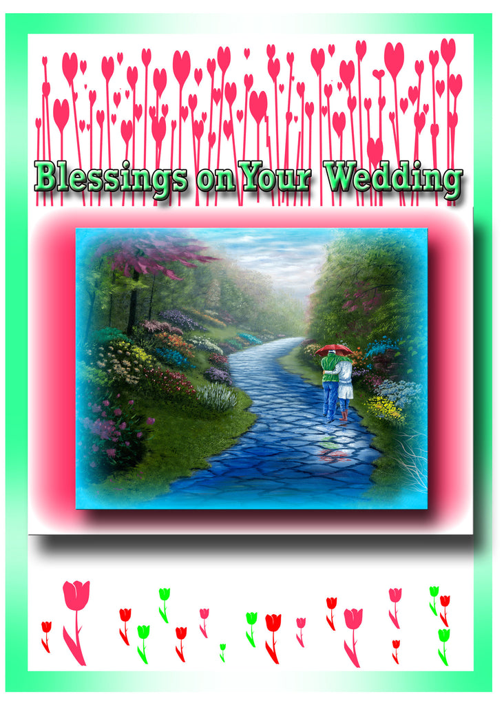 Greeting Card Plaque - Blessings on Your Wedding