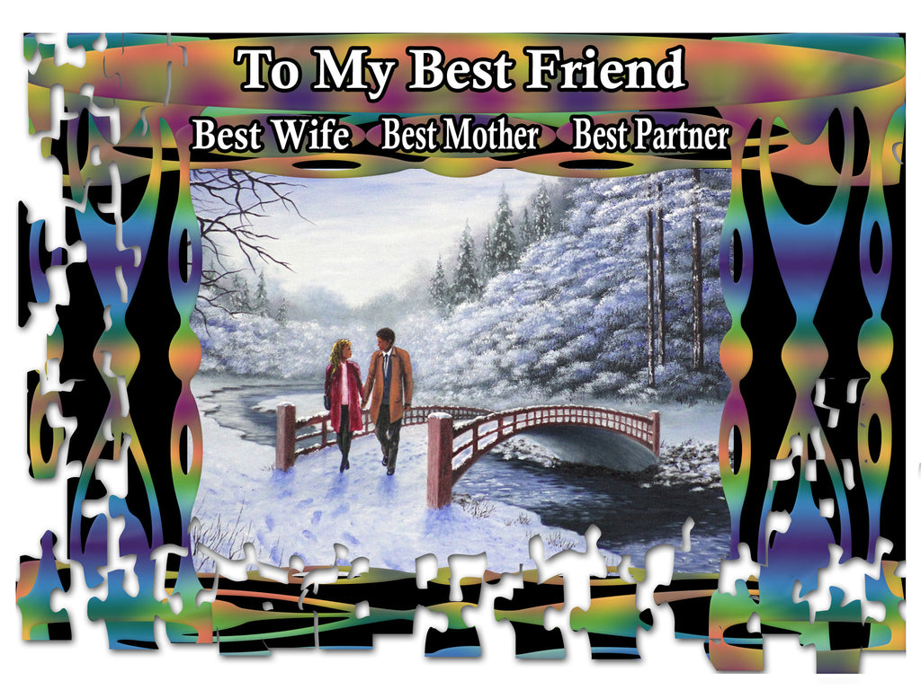 Greeting Card Plaque - To My Best Friend, Best Wife,  Best Mother, Best Partner