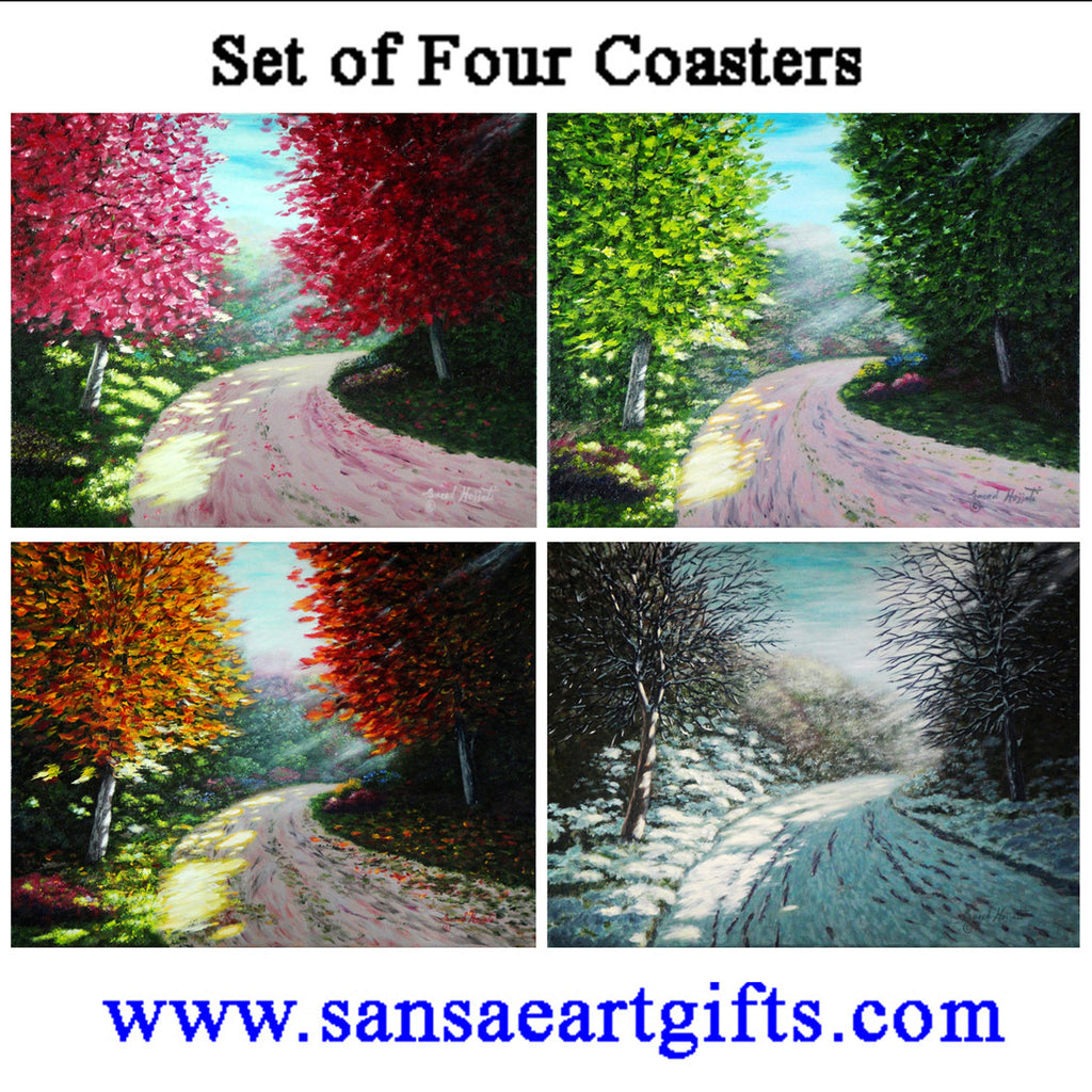 Ceramic Coasters Mixed 5