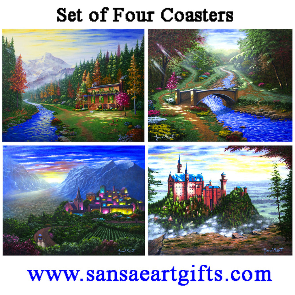 Ceramic Coasters Mixed 8