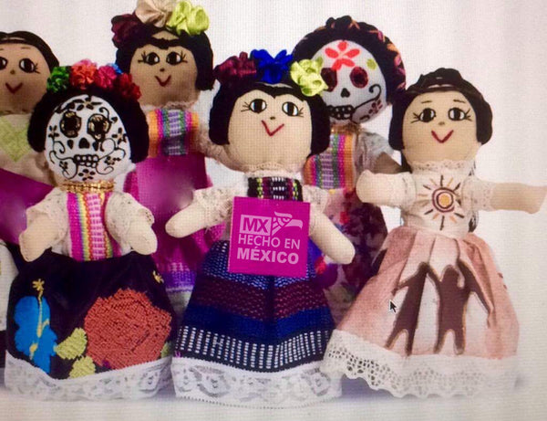 muñecas artesanales mexicanas GLOBAL EMPOWERMENT MEXICAN CREATIONS