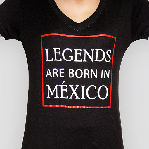 Playera LEGENDS ARE BORN IN MEXICO