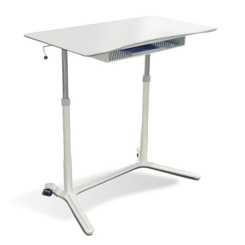 204-WH Mobile Height Adjustable Lift Table - Egyr Desk