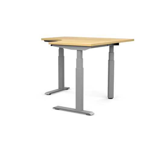 90 Degree Corner Switchback Electric Standing Desk 3 Leg 3 Stage