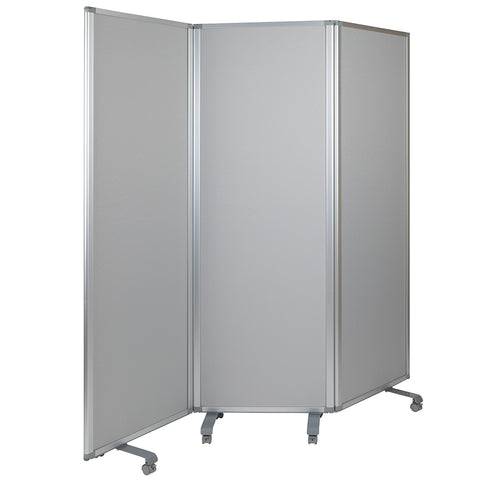 Double Sided Mobile Magnetic Whiteboard/Cloth Partition with Lockable Casters