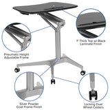 Mobile Standing Desk Pneumatic