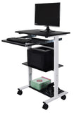 Luxcor Three Shelf Adjustable Stand Up Workstation