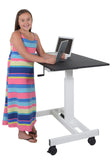 "40"" Single Column Crank Stand Up Desk"