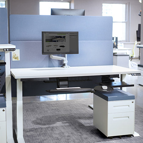 Switchback Electric Standing Desk 2 leg 2 Stage -