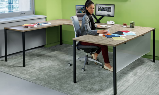 U Shaped Tensor Expand Office Desk - Egyr