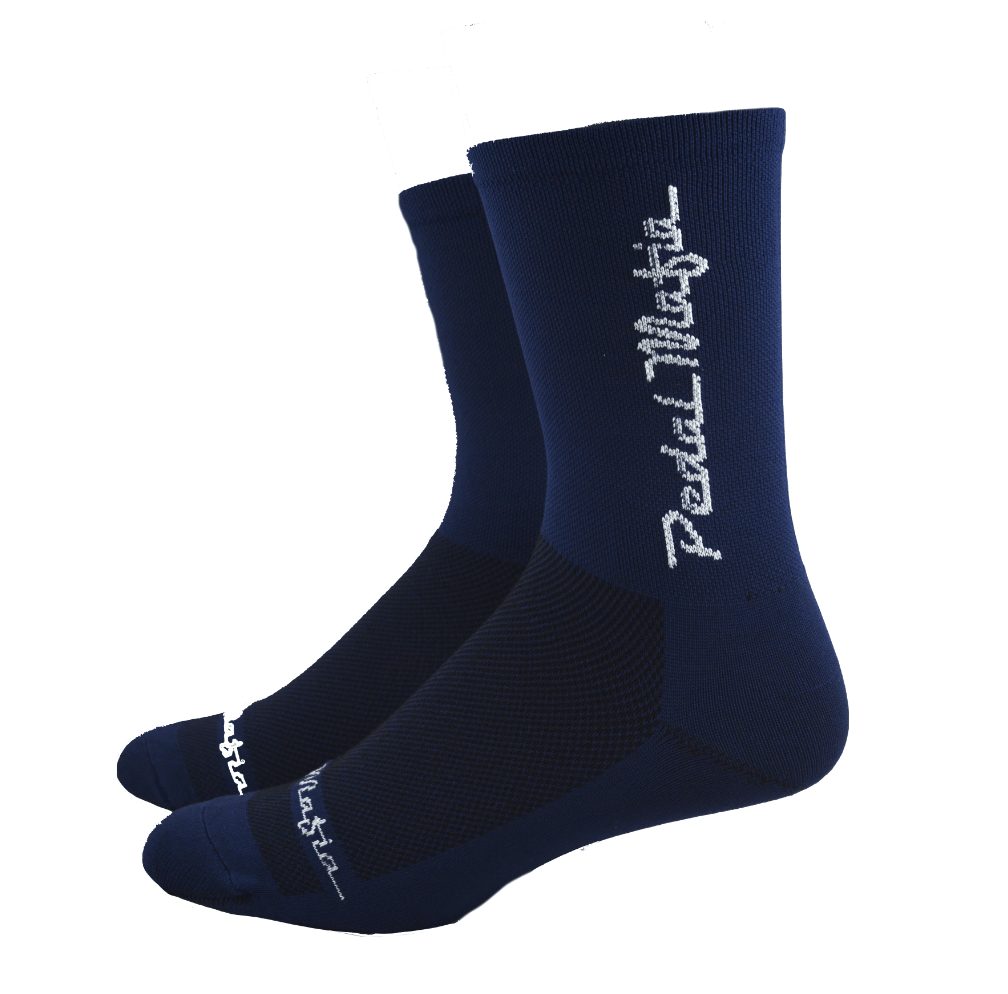 Tech Sock Navy with White Logo - Size XL - Ride Auburn