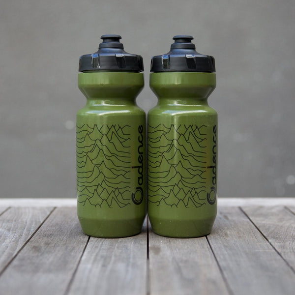 Pulsar Water Bottle - Olive/Black