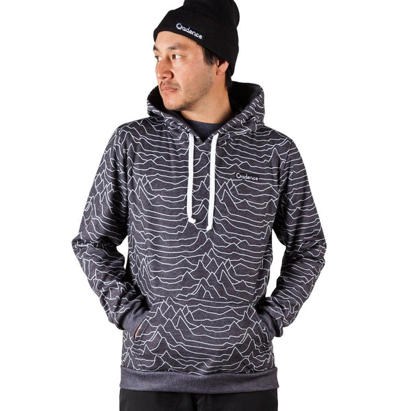 Cadence Pulsar Pullover Hoodie - Heather Black. Mad in USA