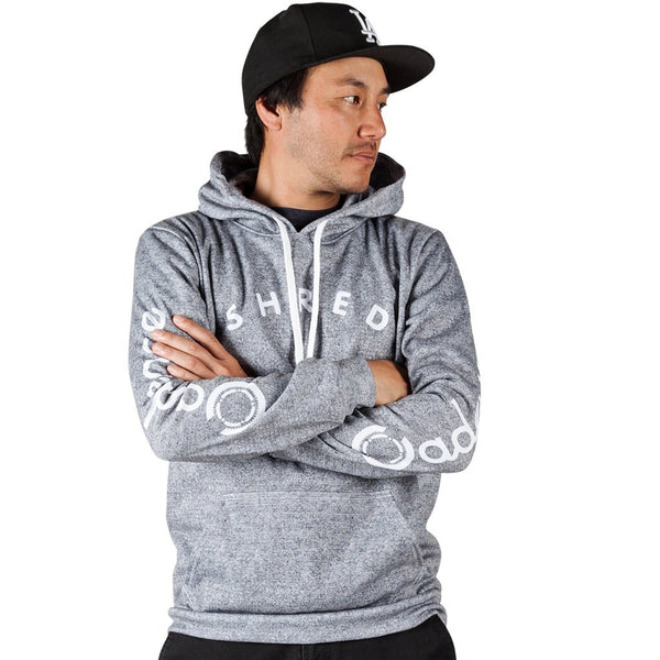 Cadence Shred Pullover Hoodie - Heather grey. Made in USA.