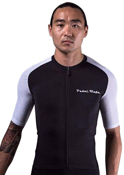 Pedal Mafia Tech+ Jersey Black and White - free international shipping