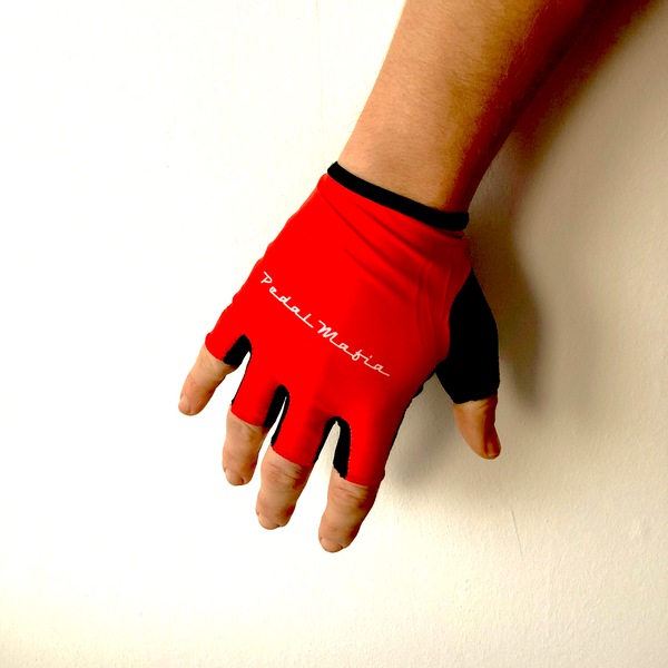 Pedal Mafia Tech Glove Red - Ride Auburn
